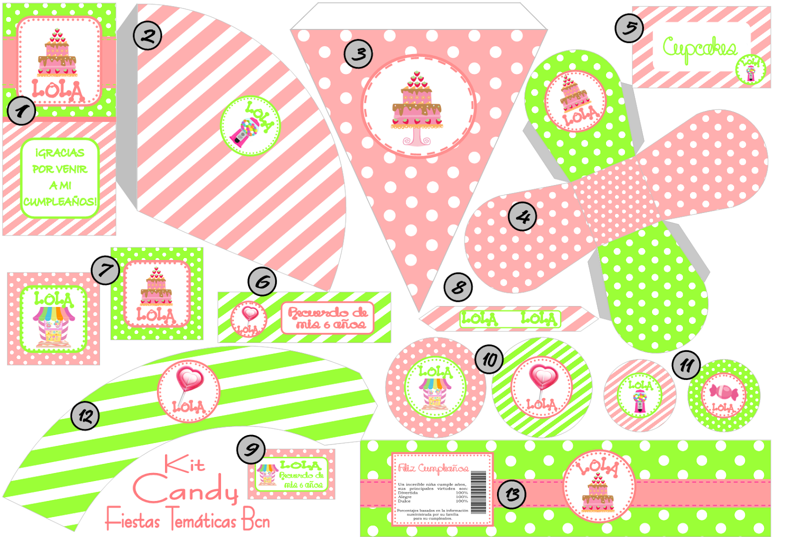 KIT IMPRIMIBLE CANDY BAR