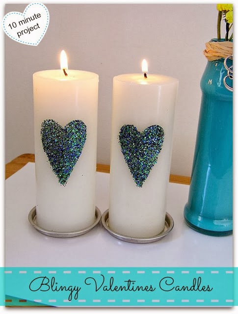 Blingy Valentines Candles