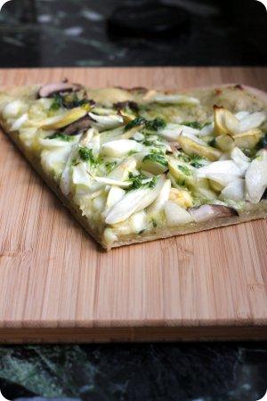 Spargel-Bärlauch-Pizza