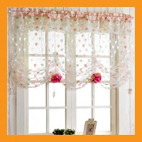 Balloon Curtains For Kitchen1