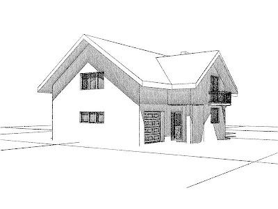 Architekt Rzeszów. Dom jednorodzinny z poddaszem użytkowym, garażem.
