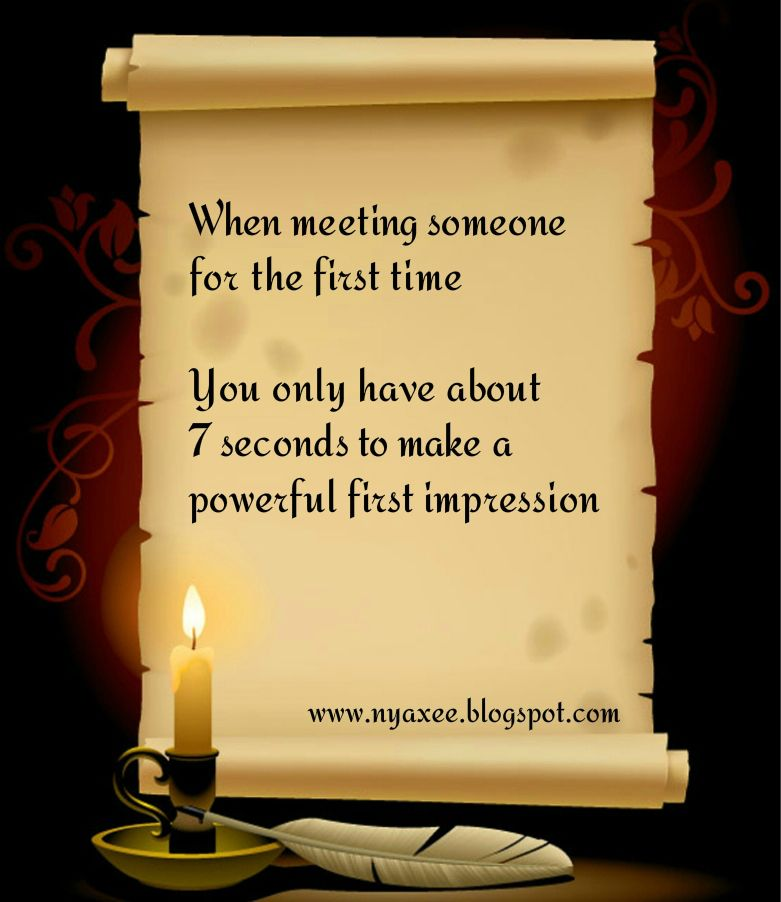 what to do when meeting someone for the first time