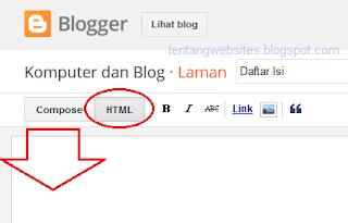 cara membuat sitemap blog dengan scrool