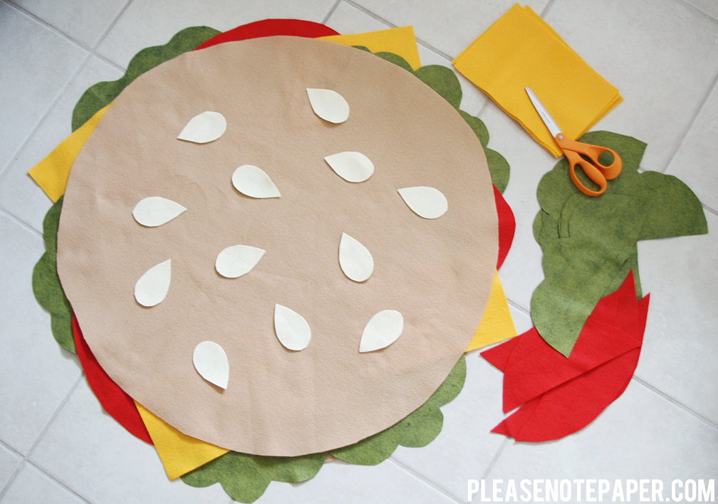 diy no sew burger costume