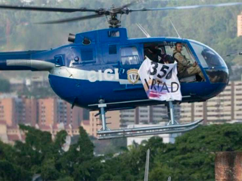 Helicóptero tirotea sede ministerial en Venezuela