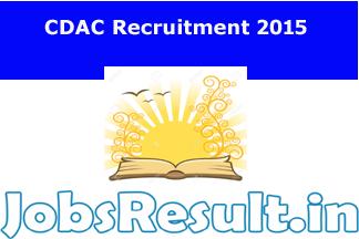 CDAC Recruitment 2015
