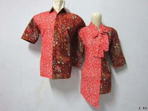 Model Batik Couple Sarimbit Lengan Pendek Terbaru