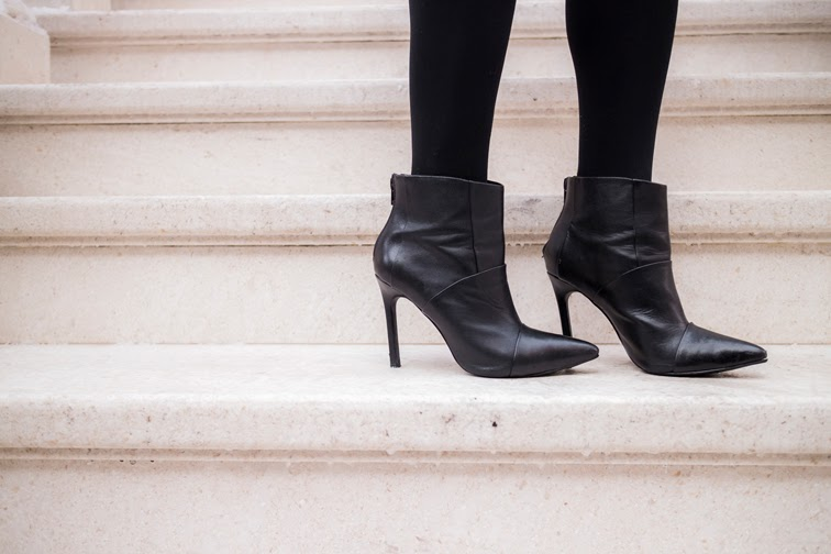 ShoeMint pointy toe single sole stiletto booties, black booties, footwear, Steve Madden