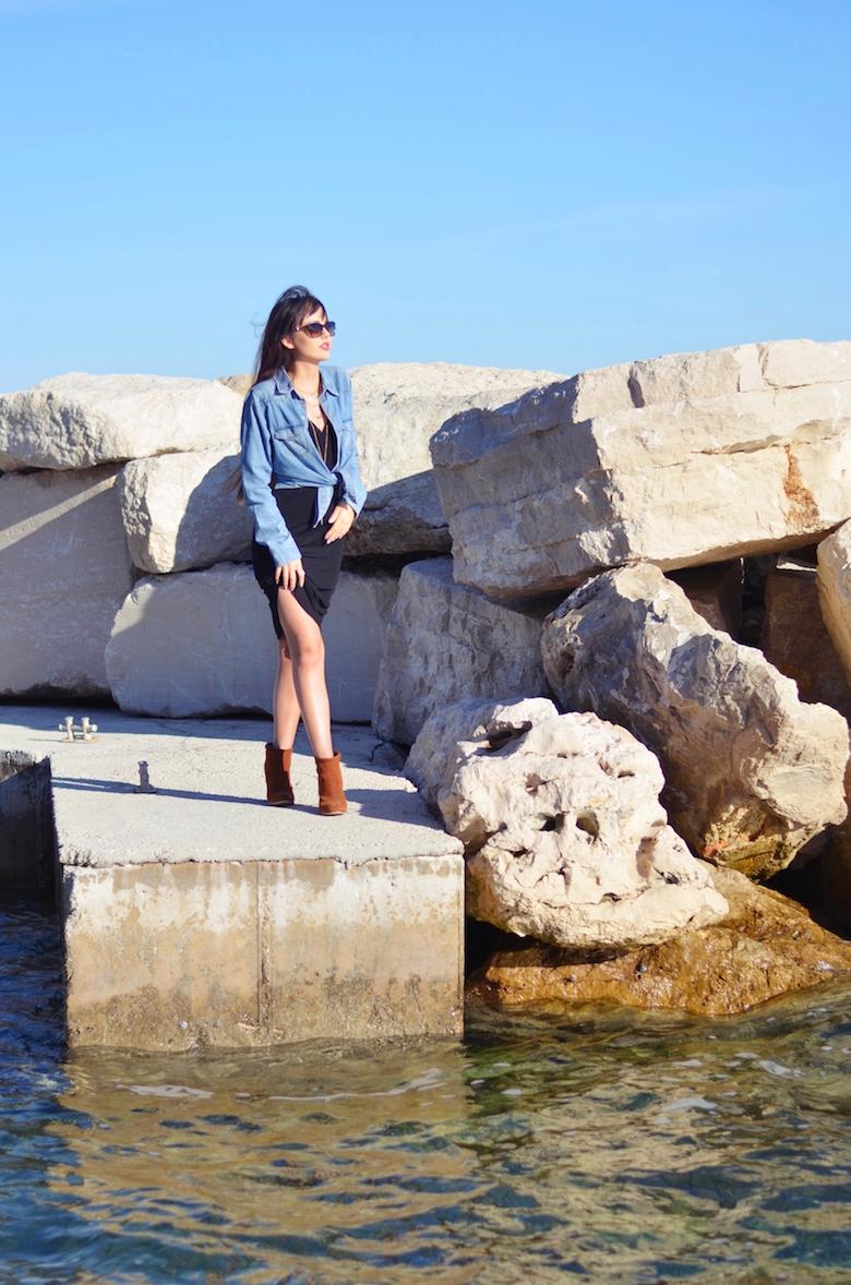 Urlaubs_Sommer_Strand_Outfit_Jeanshemd_midi_kleid_kombinieren_ViktoriaSarina