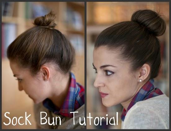 hello framboise sock bun tutorial