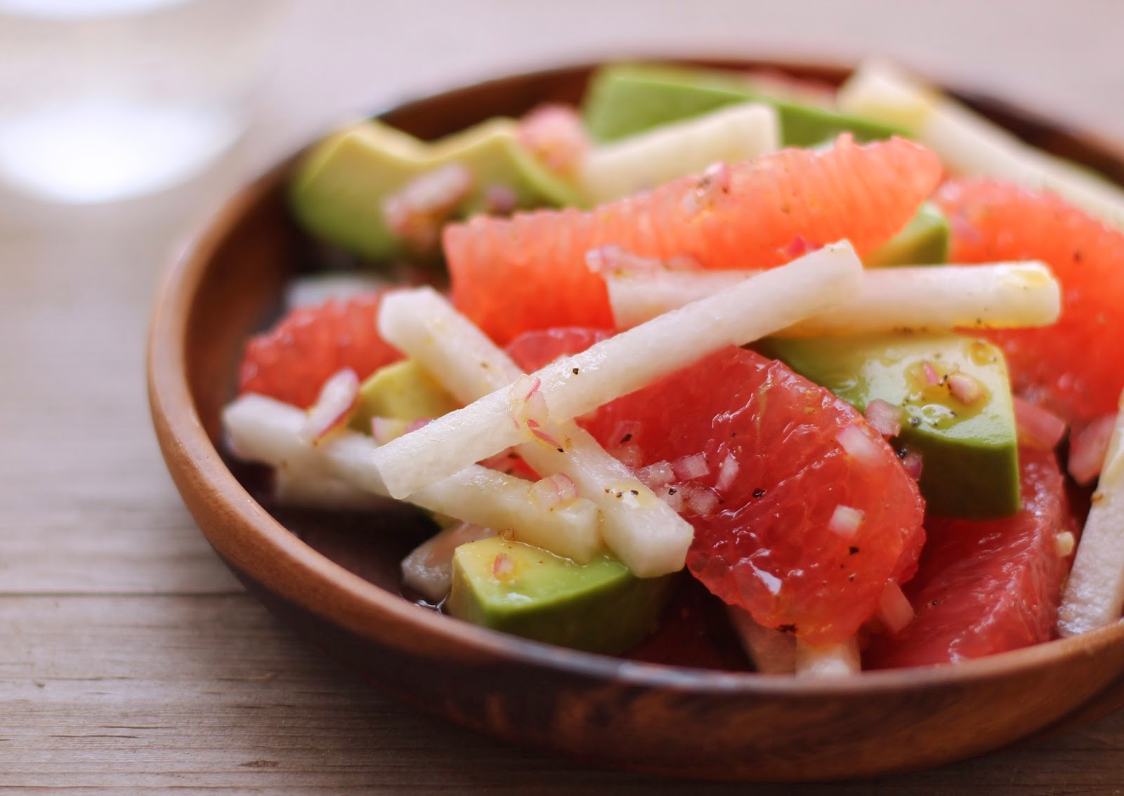 Ruby red grapefruit, avocado & jicama salad   lieslicious