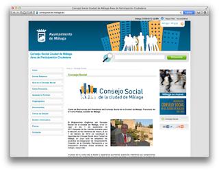 Web Consejo Social Ciudad de Málaga