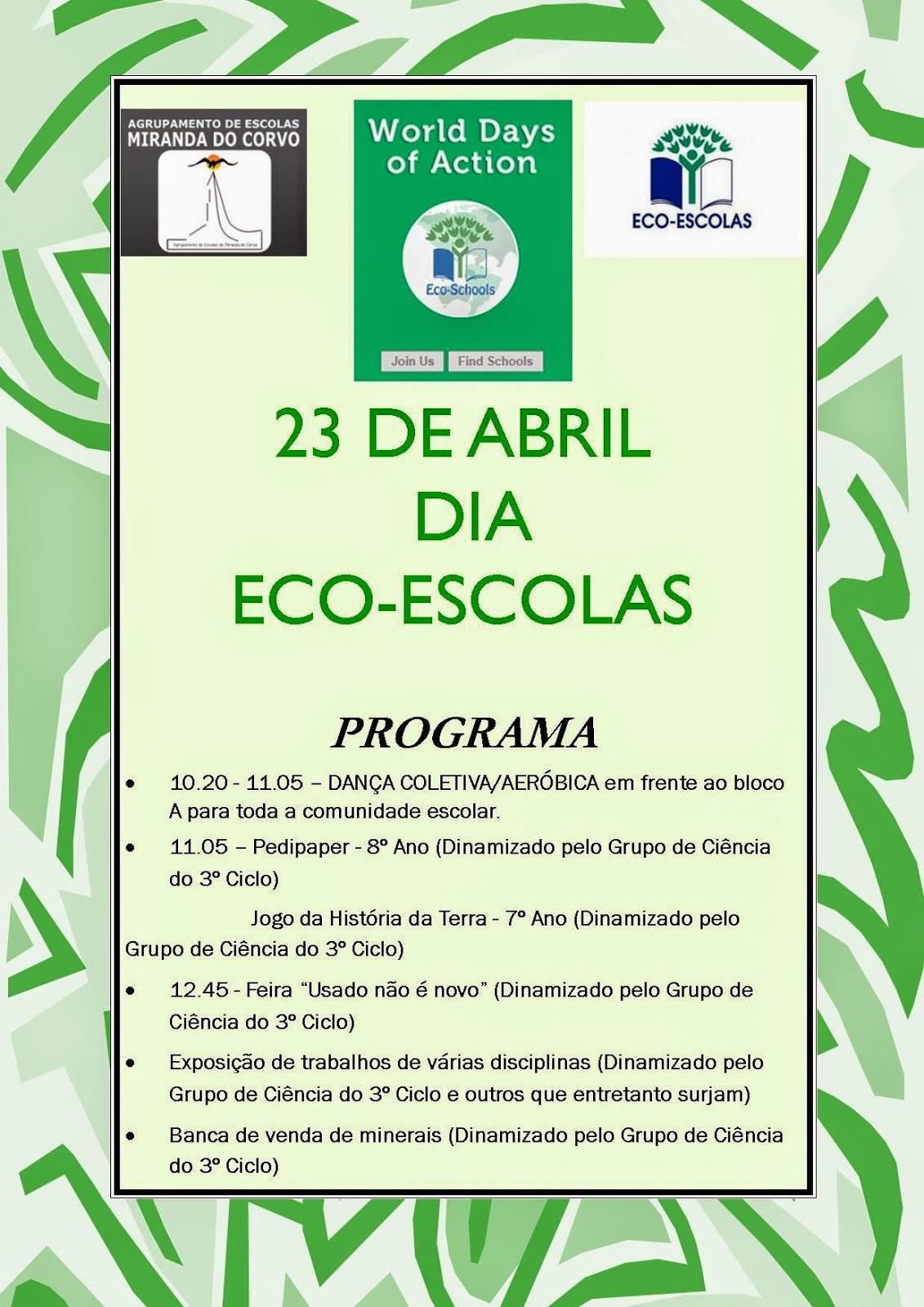 23 de Abril - Dia eco-escolas