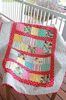 Girls in the Garden quilt from Riley Blake Sasparilla fabric
