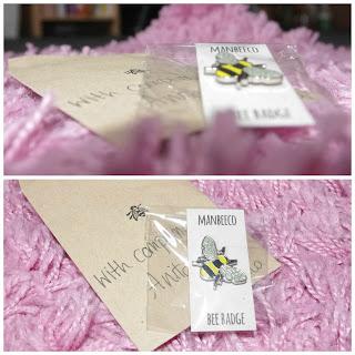 manchester bee company pin badge
