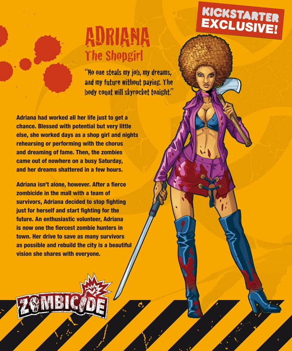 Zombicide personajes ADRIANA