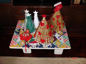 Árvores de Natal: reutilização de materiais