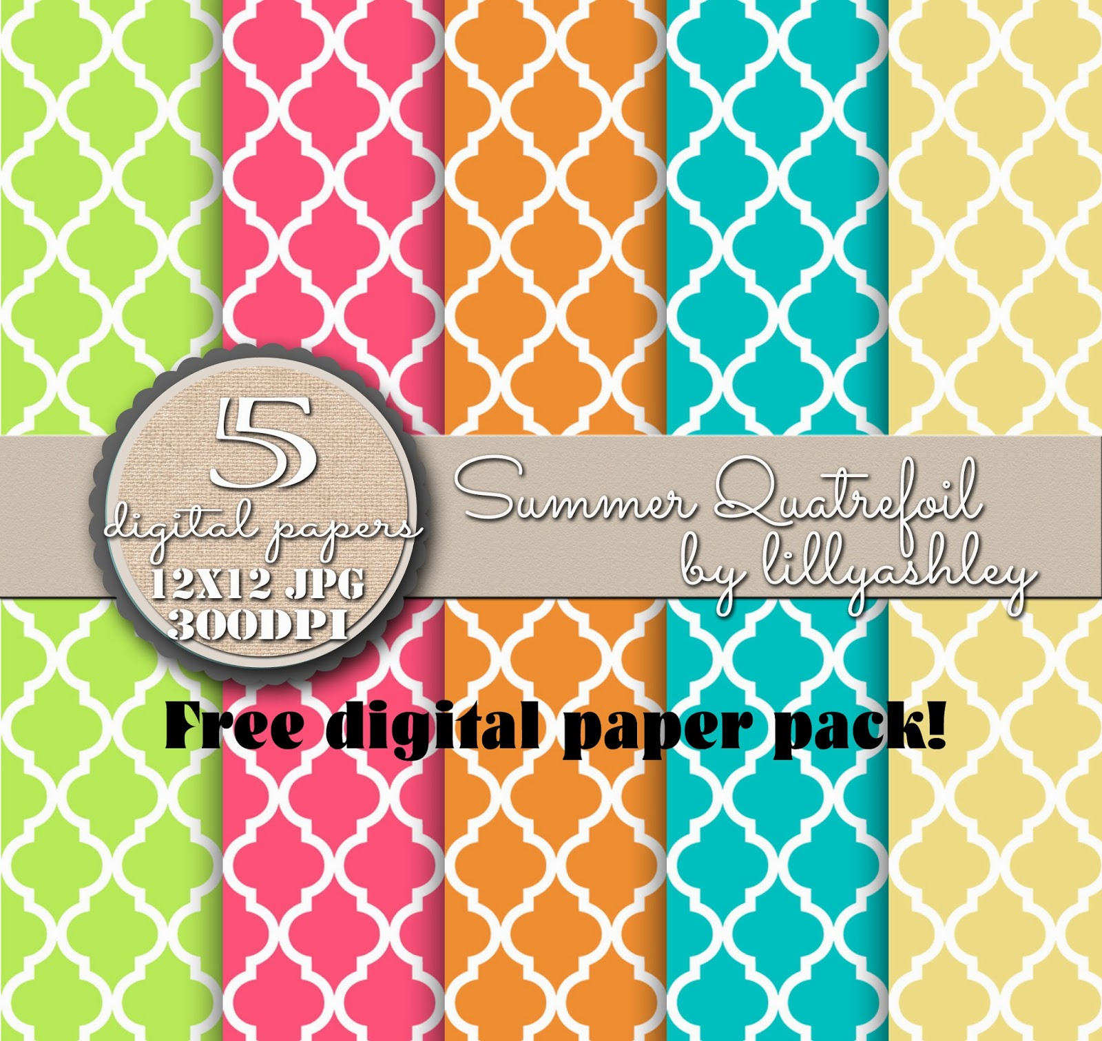 Summer Bright Colors Free Scrapbook Download