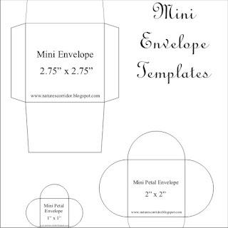 printable mini envelope template pdf