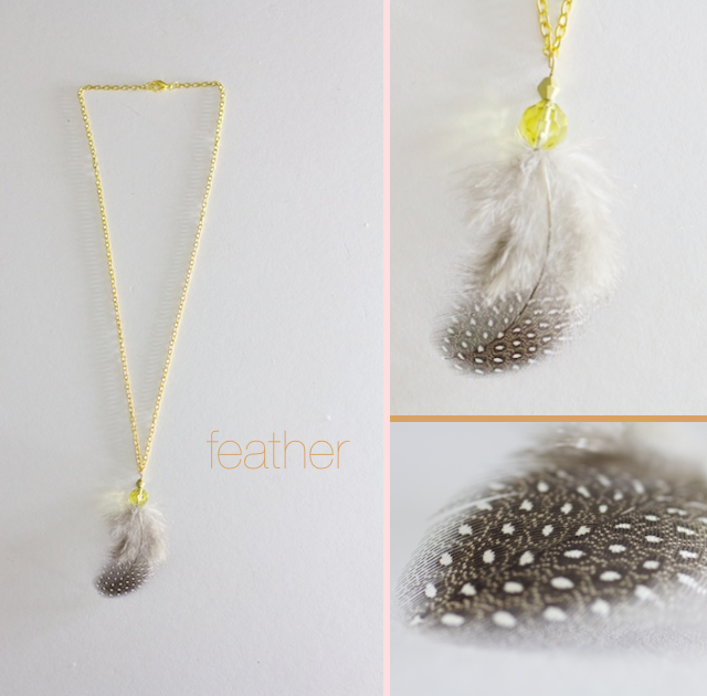 ruffles and stuff diy feather and leather necklaces