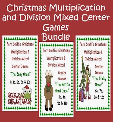 http://www.teacherspayteachers.com/Product/Thirteen-Christmas-Multiplication-Division-Mixed-Center-Games-Bundled-407282