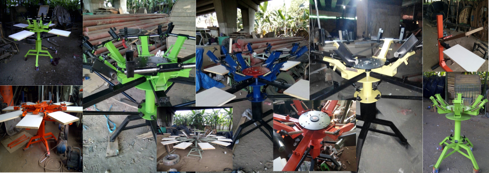 Mesin Sablon Rotary Murah | Meja Rotary Manual Murah | Mesin Rotary Murah | Surabaya