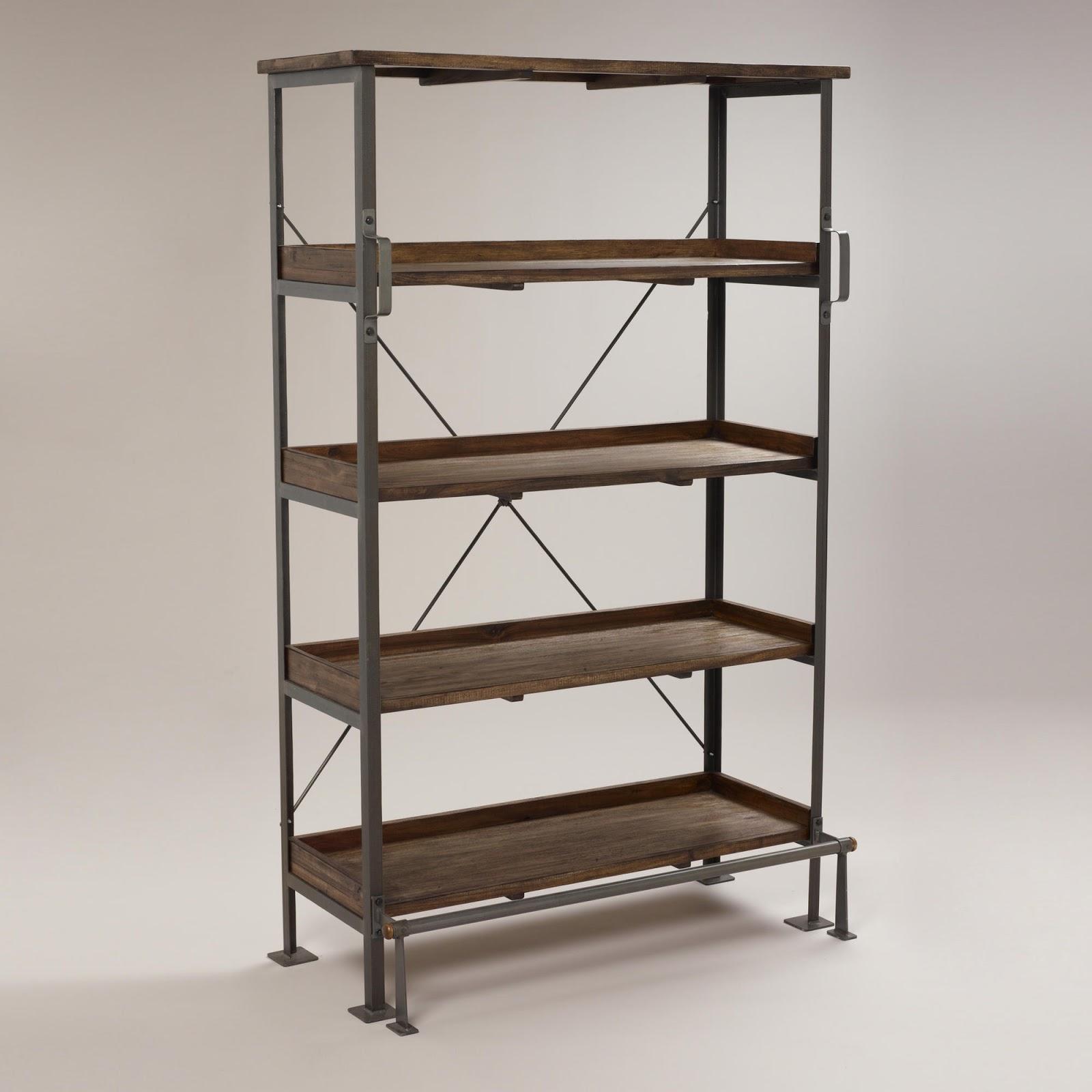 Metal Book Shelves ~ Restoration hardware french library shelving decor look