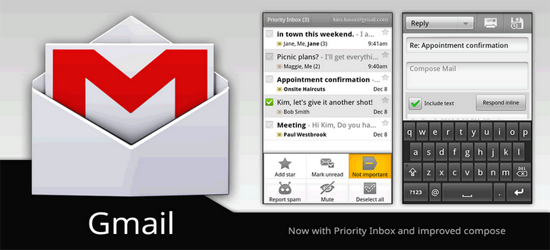 Gmail Application For Android