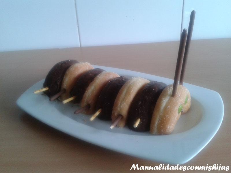 Gusano con Donuts y mikado