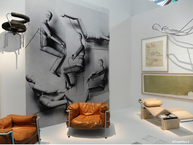 fauteuil B301 Le Corbusier expo Beaubourg urbanisme