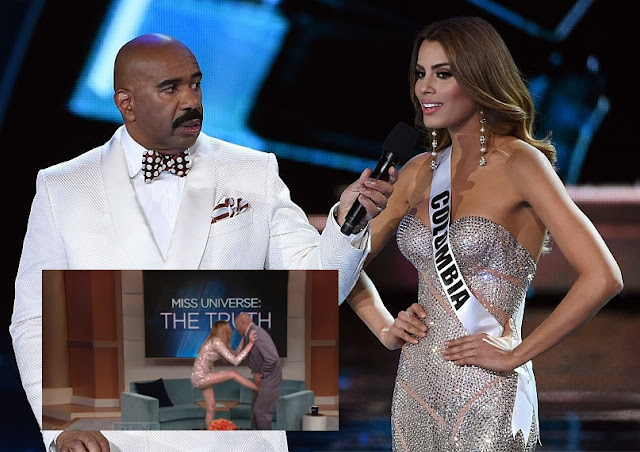 Miss Colombia golpeó a Steve Harvey