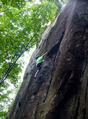 Daniel climbing at the Gems & Jewels crag, Saturday July 18, 2015.  The Saratoga Skier and Hiker, first-hand accounts of adventures in the Adirondacks and beyond, and Gore Mountain ski blog.