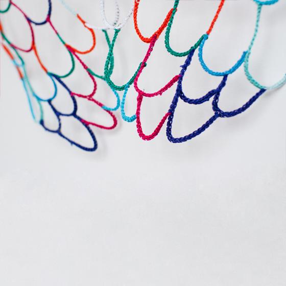 wings, handmade, yarn, props for filming and photos, orange. blue, turquoise, children, nezvetaeva
