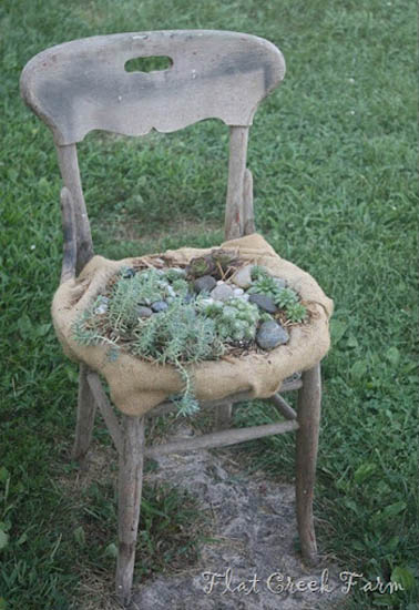 How To Recycle Garden Decorations Of Recycled Old Chairs