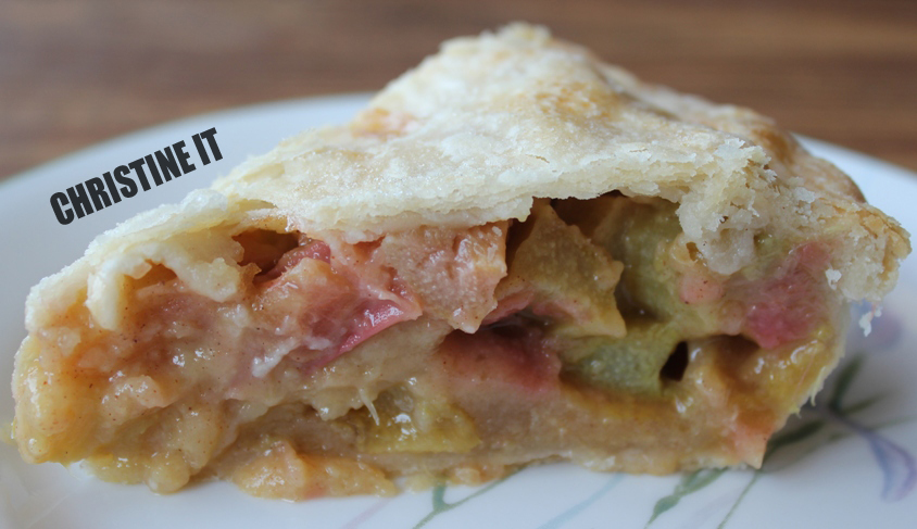 Christine It: Classic Rhubarb Pie