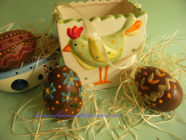 El Zurrón de los Postres: Huevos Kinder Decorados