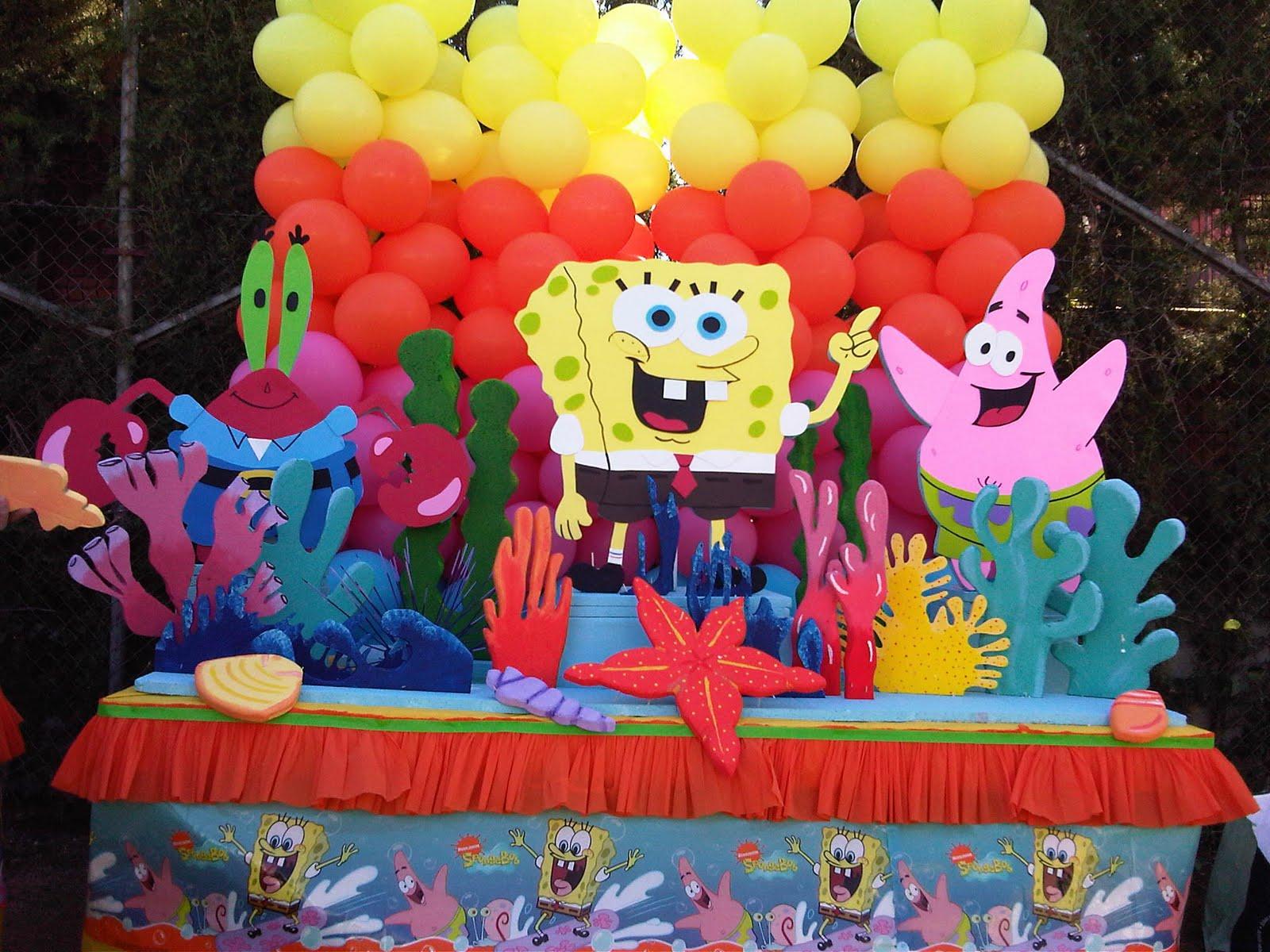 decoraci n de bob esponja para fiestas infantiles imagui