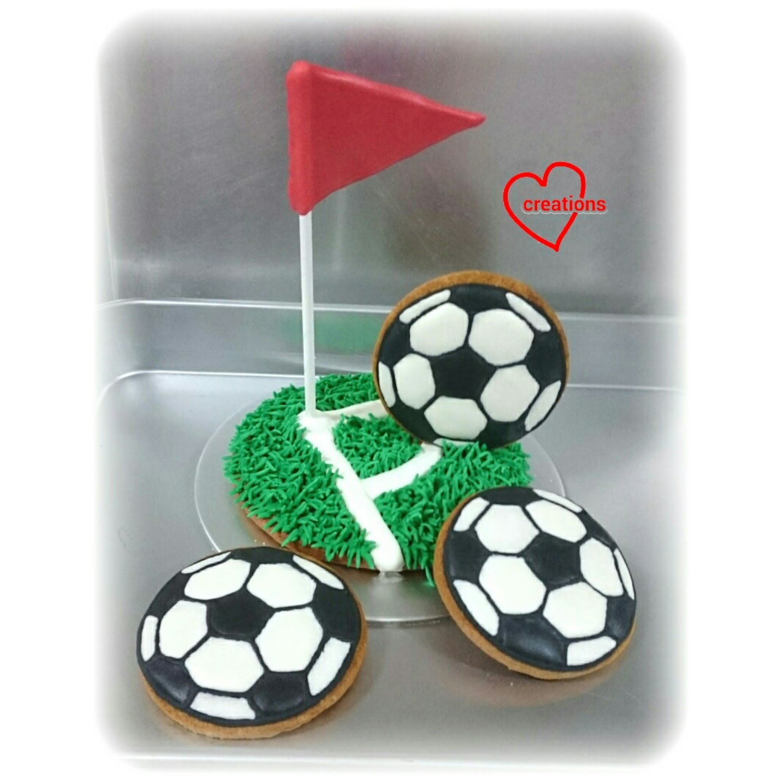 how to make soccer ball cookies