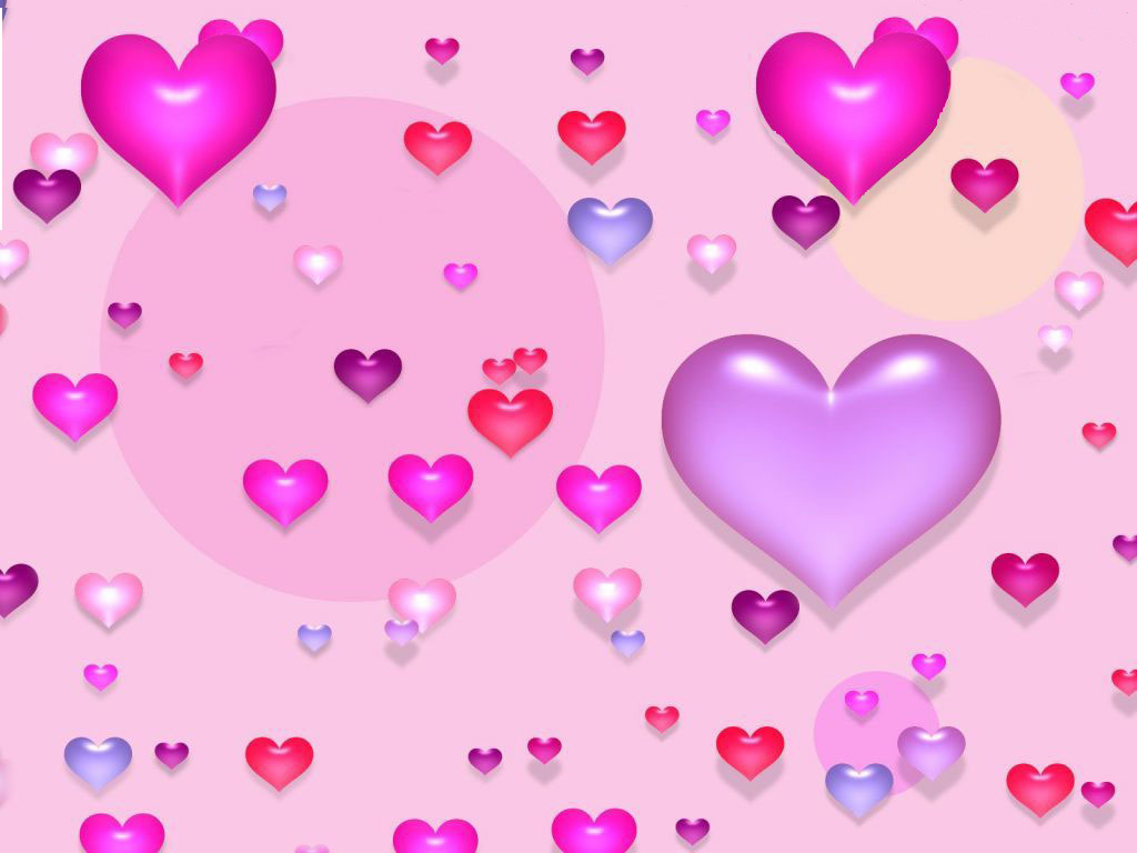 Pink hearts background |The Free Images
