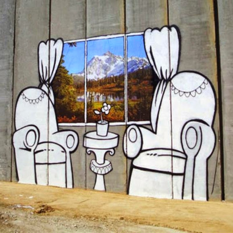 15 Of Banksy's Most Iconic Street Artworks - The West Bank Barrier, 2005