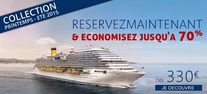 Bons plans croisiere - croisière Méditerranée et Caraibes à 330 euros.