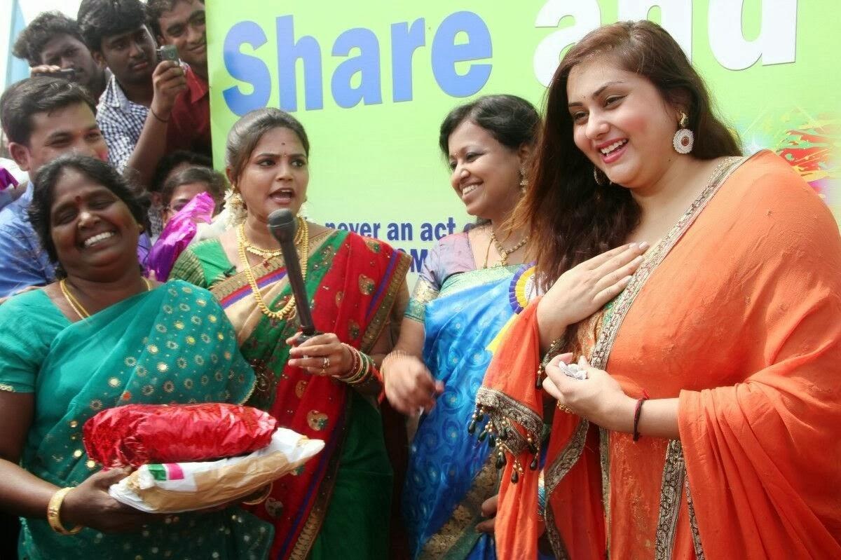 Namitha Pongal Celebration Photos
