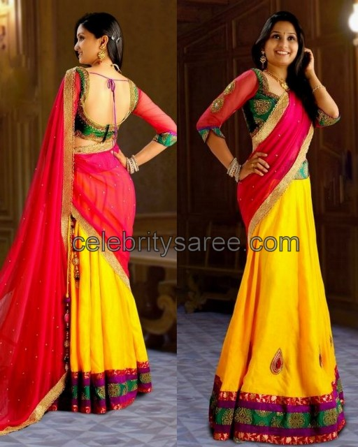 Stylish Half Saree