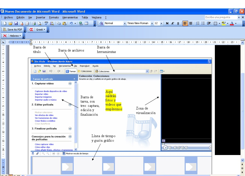 Windows movie maker and powerpoint