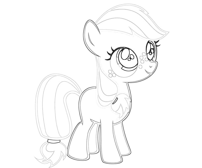 #24 My Little Pony Applejack Coloring Page