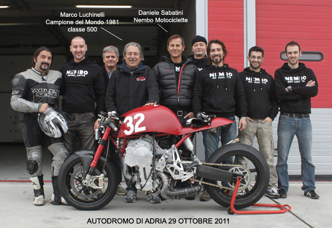 Nembo Motorcycle Team with Marco Luchinelli