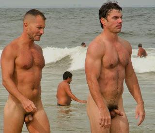 Nude beach boner gif