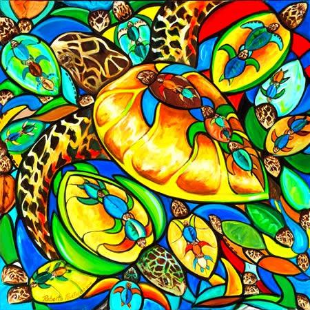 turtle-pasta-pantaleo-islamorada-painting