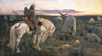 Vasnetsov 'Knight at a Crossroads' (1848)