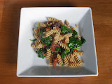 Pasta with Chorizo, Bell Peppers, & Spinach